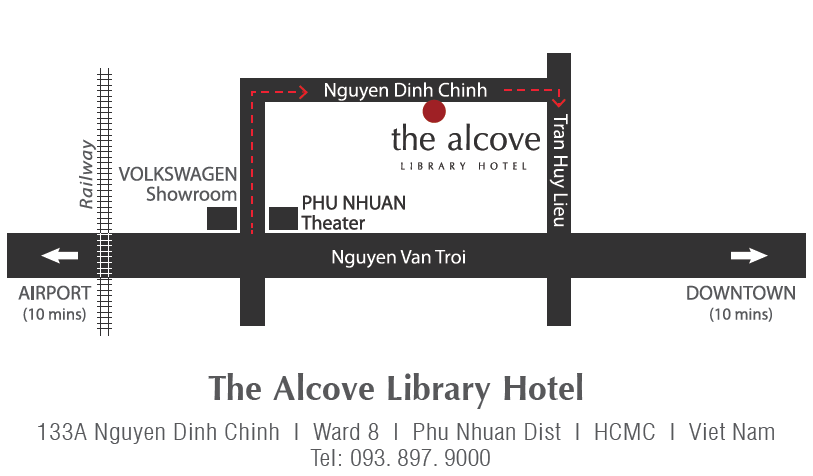 hotel's map